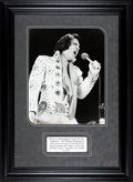 Music Memorabilia:Photos, Elvis Presley Black and White Photograph by Sean Shaver, 1972....