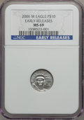 Modern Bullion Coins, 2006-W $10 Platinum MS69 NGC. Early Releases. PCGS Population(532/280). Numismedia Wsl. Price for prob...