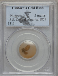 Nuggets MS S.S Central America .5 Grams, California Gold Rush PCGS