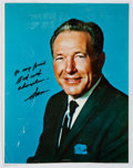 """Autographs:Celebrities, Inscribed Photographic Image from Former Los Angeles Mayor andCalifornia Politician """"Sam"""" Yorty to Ted Gunderson, Former Head..."""