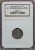 Bust Dimes, 1820 10C Large 0 XF45 NGC. JR-7. Ex: Jules Reiver Collection. NGCCensus: (13/187). PCGS Population (5/115). Mintage: 942,5...