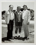 Autographs:Celebrities, Photograph with Ernie Stautner (1925-2006, Football Hall of Famer),Louis L'Amour (1908-1988, American Western Novelist), and ...