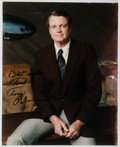 Autographs:Celebrities, Tom Osborne (1937- , College Football Head Coach and Congressmanfrom Nebraska). Inscribed Photograph to Ted Gunderson, Former...