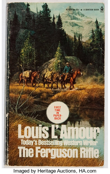 Louis L'Amour  INSCRIBED  The Ferguson Rifle  Bantam, 1973