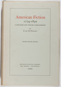 Books:Books about Books, [Books About Books]. Lyle H. Wright. American Fiction1774-1850. Huntington Library, 1969. First edition, firstprin...