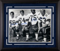Football Collectibles:Photos, Dallas Cowboys Doomsday Defense Multi Signed OversizedPhotograph....