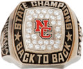 Basketball Collectibles:Others, 2004 Indiana North Central High School Championship Ring....