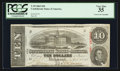 Confederate Notes:1863 Issues, Fully Framed T59 $10 1863.. ...