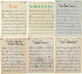 Music Memorabilia:Sheet Music, Elvis Presley's Personal From Elvis Presley Boulevard, Memphis,Tennessee Sheet Music. ... (Total: 7 Items)