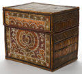 Decorative Arts, Continental:Other , AN INDONESIAN REED AND COWRIE SHELL BOX . 20th century. 12-1/2inches high x 13-3/4 inches wide x 10-1/8 inches deep (31.8 x...(Total: 2 Items)