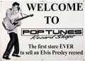 Music Memorabilia:Posters, Elvis Presley Pop Tunes Record Shop Poster Group (1980s-90s)... (Total: 3 Items)