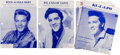 Music Memorabilia:Sheet Music, Elvis Presley Vintage Sheet Music Collection of Seven (1958-1961). ... (Total: 7 Items)