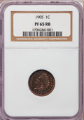 Proof Indian Cents: , 1905 1C PR65 ★ Red and Brown NGC. NGC Census: (96/48). PCGSPopulation (45/23). Mintage: 2,15...
