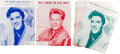 Music Memorabilia:Sheet Music, Elvis Presley Vintage Sheet Music Collection of Nine (1962-1963).... (Total: 9 Items)