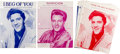 Music Memorabilia:Sheet Music, Elvis Presley Vintage Sheet Music Collection of Eight (1957-1963).... (Total: 8 Items)