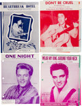Music Memorabilia:Sheet Music, Elvis Presley Vintage Sheet Music Collection of Ten (1956-1958)....(Total: 10 Items)