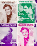 Music Memorabilia:Sheet Music, Elvis Presley Vintage Sheet Music Collection of Eight(1956-1958).... (Total: 8 Items)