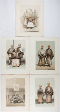 Books:Prints & Leaves, [Perry's Expedition]. Group of Five Original Color Lithographs fromNarrative of the Expedition of an American Squadron ...