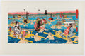 Books:Prints & Leaves, [Perry's Expedition]. Color Lithograph Titled Crossing theOho-E-Ga-Wa [Province Suraga] from Narrative of t...