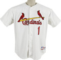 Autographs:Jerseys, 1982 St. Louis Cardinals World Series Champions Signed Jersey.Teammates of the 1982 St. Louis Cardinals added their signat...