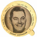 Memorabilia:Movie-Related, Johnny Weissmuller Ice Cream Lid (Dixie Cup Co., 1949)....
