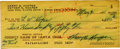 """Autographs:Checks, 1965 Harry Hooper Signed Check. The right fielder from the famed Boston Red Sox """"Million Dollar Outfield"""" appears here in ..."""