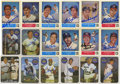 Autographs:Sports Cards, 1970's Autographed Baseball Trade Card Group of 18 . Plenty of HOFtalent is represented on these sharpie signed trade card...