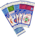 Baseball Collectibles:Tickets, 1983-84 MLB Postseason Tickets/Stubs Lot of 5. Nice quintet ofMajor League postseason tickets and stubs from the fall of 1...