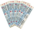 Baseball Collectibles:Tickets, 1960 World Series Full Tickets Lot of 5. Five excellent-qualityfull tickets here come from the Baltimore Orioles' failed a...