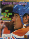 """Hockey Collectibles:Others, Wayne Gretzky Signed 1985 Sports Illustrated. We offer a very nice 1985 sports Illustrated with """"The Great One"""" on the cove..."""