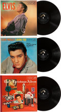 Music Memorabilia:Recordings, Elvis Presley LP Group of 3 (RCA, 1956-57).... (Total: 3 Items)