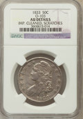 Bust Half Dollars, 1833 50C -- Improperly Cleaned, Scratches -- NGC Details. AU.O-103. NGC Census: (72/925). PCGS Population (146/823). Minta...