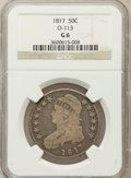 Bust Half Dollars, 1817 50C Good 6 NGC. O-113. NGC Census: (4/430). PCGS Population(6/584). Mintage: 1,215,567. Numismedia Wsl. Price for pro...
