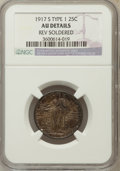 Standing Liberty Quarters, 1917-S 25C Type One -- Rev Soldered -- NGC Details. AU. NGC Census: (7/230). PCGS Population (28/456). Mintage: 1,952,0...