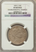 Barber Half Dollars, 1895-S 50C -- Environmental Damage -- NGC Details. XF. NGC Census:(1/132). PCGS Population (5/149). Mintage: 1,108,086...