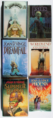 [Jerry Weist]. SIGNED. Joan D. Vinge. Six Signed First Editions, including: Phoenix in the Ashes; Psion; Dreamf
