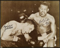 Boxing Collectibles:Autographs, Jake LaMotta and Sugar Ray Robinson Multi Signed Photograph....