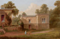 Fine Art - Painting, American:Other , Attributed to RUSSELL SMITH (American, 1812-1896). Back ofHouse, Edge Hill. Oil on canvas . 12 x 18 inches (30.5 x45.7...