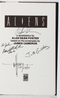 Books:Science Fiction & Fantasy, Alan Dean Foster. CAST SIGNED. Aliens. Severn House, 1987. First British edition, first printing. Signed by Foster...