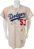 Baseball Collectibles:Uniforms, 1959 Don Drysdale Game Worn Los Angeles Dodgers Jersey (MEARS A10) with 1960 Pants (MEARS Authentic)....