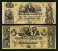 Obsoletes By State:Louisiana, New Orleans, LA- Canal Bank $50 Two Examples. ... (Total: 2 notes)