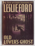 Books:Mystery & Detective Fiction, Leslie Ford. Old Lover's Ghost. Scribners, 1940. Firstedition, first printing. Offsetting. Slight lean. Toning....