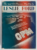 Books:Mystery & Detective Fiction, Leslie Ford. Murder in the O. P. M. Scribners, 1942. Firstedition, first printing. Offsetting. Slight lean. Toning....