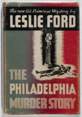 Books:Mystery & Detective Fiction, Leslie Ford. The Philadelphia Murder Story. Scribners, 1945.First edition, first printing. Offsetting. Slight lean....