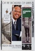 Books:Biography & Memoir, Kareem Abdul-Jabbar. SIGNED. On the Shoulders of Giants.Simon and Schuster, 2007. First edition, first printing...