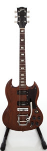 Musical Instruments:Electric Guitars, Early 1970s Gibson SG Pro Walnut Solid Body Electric Guitar, Serial # 136007. ...