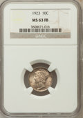 Mercury Dimes: , 1923 10C MS63 Full Bands NGC NGC Census: (80/542). PCGS Population(161/878). Mintage: 50,130,000. Numismedia Wsl. Price fo...