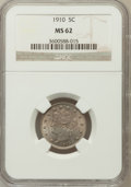 Liberty Nickels: , 1910 5C MS62 NGC NGC Census: (80/413). PCGS Population (89/487).Mintage: 30,169,352. Numismedia Wsl. Price for problem fre...