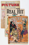 Golden Age (1938-1955):Miscellaneous, Comic Books - Assorted Golden Age Comics Group (Various Publishers, 1938-39).... (Total: 3 Comic Books)