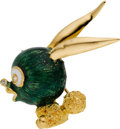 Estate Jewelry:Brooches - Pins, Enamel, Diamond, Gold Brooch, Gucci. ...